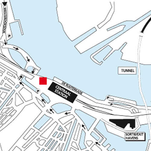 Plano de acceso de Hotel Ibis Central Station